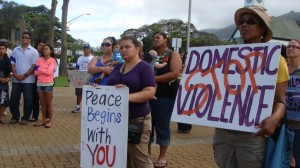 File photo from Domestic Violence awareness vigil held on Maui in June, 2012. Photo by Wendy Osher.