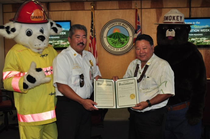 Fire Prevention Week 2012. Photo courtesy County of Maui.