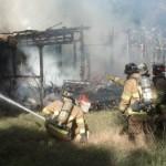 Fire Burns Unoccupied Wooden Home in Haiku