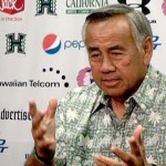 Hawaii head coach Norm Chow at his weekly press conference on Oahu. Photo by UH Athletics.