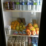The YMCA vending machine now features healthy foods--including fresh fruit and sandwiches from Whole Foods.  Courtesy photo.