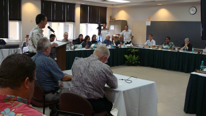 The University of Hawai'i Board of Regents accepted the report of the Operational and Financial Controls Improvement Advisory Task Group at its monthly meeting held today at the University of Hawai'i Maui College.  Photo by Wendy Osher.