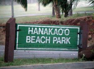 Hanakaoo sign, photo by Wendy Osher.