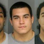 Three OSU football players were arrested in bar brawl early Saturday morning. Former Baldwin High School standout Mana Rosa (middle) was reportedly involved. Rosa's teammates defensive end Rudolph Fifita (left) and junior linebacker Dyllon Mafi (right) were the other players arrested. Photo by KPTV.com.