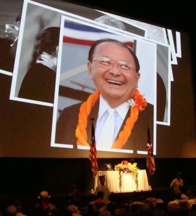 US Sen. Daniel Inouye, Maui memorial service. Photo by Wendy Osher.