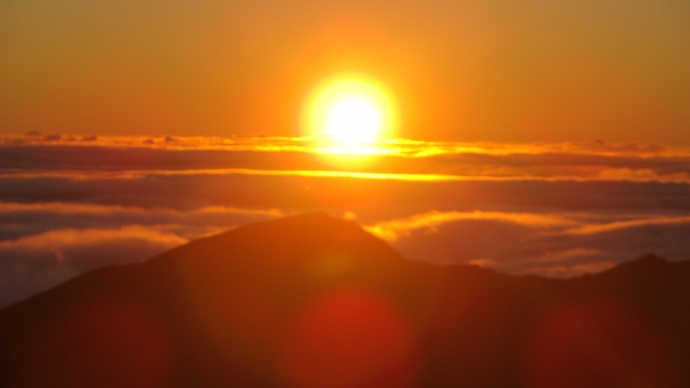 Haleakala sunrise, file photo by Wendy Osher.