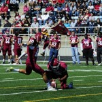 Valley City State University place-kicker Thomas Cortez earned first-team AII All-Conference honors last month. Photo by Valley City State Athletics.