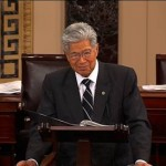 US Sen. Daniel Akaka. Still from the Senate Recording Studio telecast.