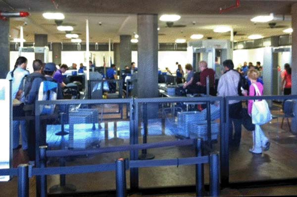 Checkpoint screening area at Kahului airport. File photo courtesy Hawaii DOT.