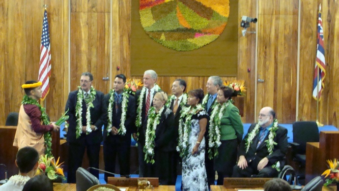 Maui Council Inauguration 2013, photo by Wendy Osher.