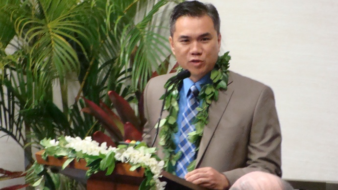 Kalbert K. Young, Hawai'i Director of Budget and Finance. Photo by Wendy Osher.