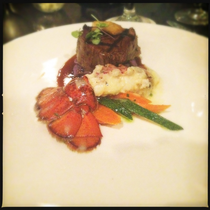 Chef McDowell's Surf and Turf Lobster special at the Molokini Bar and Grill. Photo by Vanessa Wolf