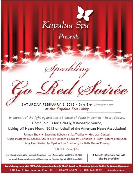 Go Red Soiree flyer.