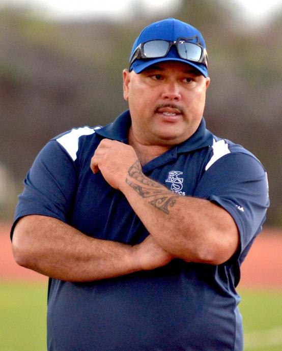 Kamehameha Maui head coach Steven Mau. Photo by Rodney S. Yap.