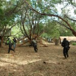 One team moves into position during play at Maui Paintball at Olowalu. Courtesy photos.