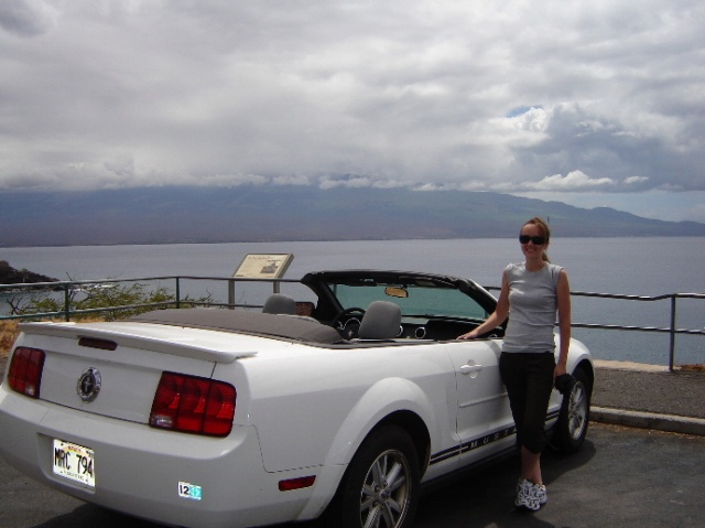 A common sight on Maui - a rented Mustang. Photo via shared tourist photo on TravBuddy.