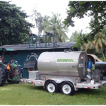 Pacific Biodiesel delivers biofuel to reserch station on Palmyra Atoll in the North Pacific. Courtesy photo.