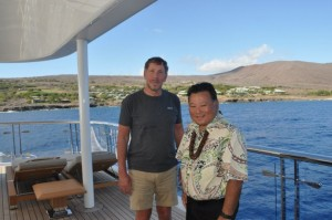 Larry Ellison, photo courtesy County of Maui. Feb. 19, 2013 meeting with Maui Mayor Alan Arakawa.