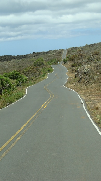 Piilani Highway through Kaupo, file photo by Wendy Osher.