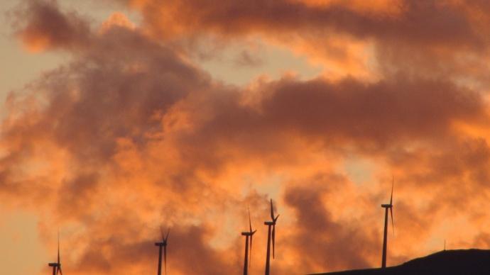 Windmills above Kaheawa on Maui. File photo by Wendy Osher.