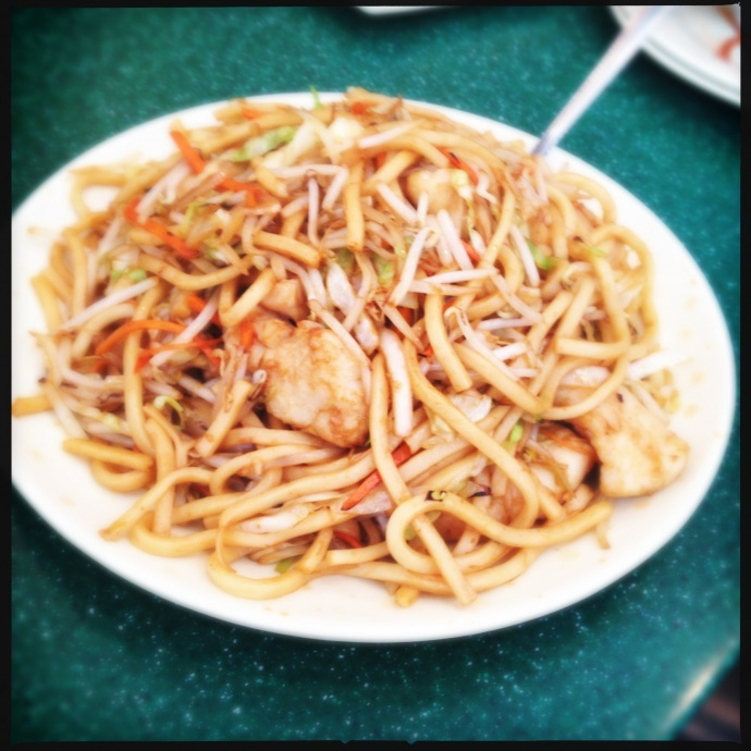 The Seafood Fried Udon. Love. Photo by Vanessa Wolf