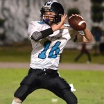 King Kekaulike quarterback Ryley Widell during the 2012 MIL football season. File photo by Rodney S. Yap.