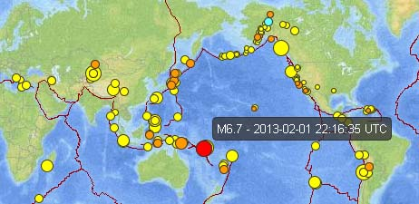 Santa Cruz Islands earthquake map courtesy USGS.