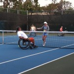 2012 Wheelchair Adaptive Tennis Clinic.  Photo courtesy County of Maui.