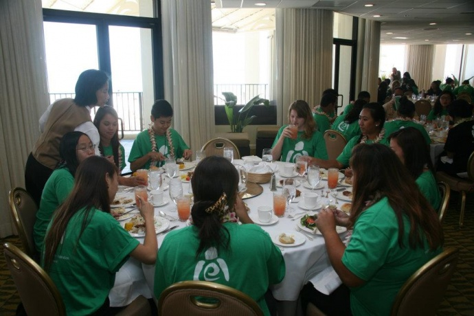 High school students participate in 2012 LEI program to learn more about careers in the hospitality industry. Courtesy photo.