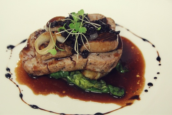 Also from last month's dinner, Ahi topped with Foie Gras. Courtesy photo.