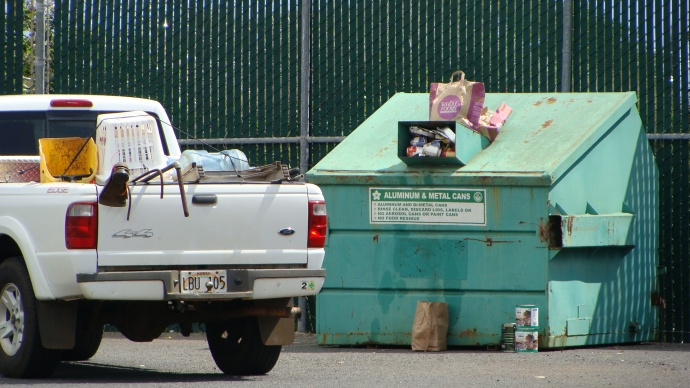 County Recycling facility at UHMC, photo by Wendy Osher.
