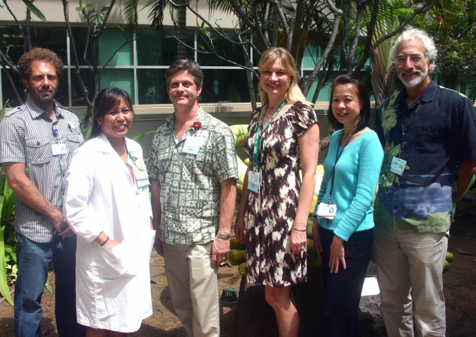 Recognized for their work in the GWTG award left to right: Dr. Deyaa Mounir, Marian Horikawa-Barth, Paul Harper-O'Connor, Leslie Lexier, My Thi Do and Dr. Andrew Rosenblum. Courtesy photo.