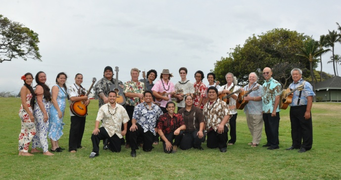 Students from the first Institute of Hawaiian Music cohort.  Courtesy photo.