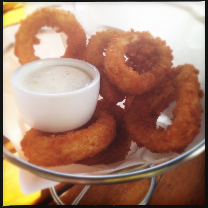 I feel hungry just looking at those onion rings. Photo by Vanessa Wolf