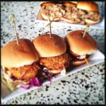 Gannon's Red Bar's Crab Cake sliders, which do not count as a meal in this case. Photo by Vanessa Wolf