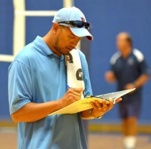 Baldwin High School head coach Kalei Houpo. Photo by Rodney S. Yap.