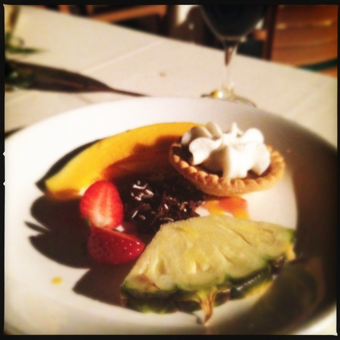 Speaking of sweet...the dessert course. Photo by Vanessa Wolf