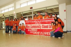 Monsanto employees proudly host their first blood drive in Kihei. Courtesy photo.