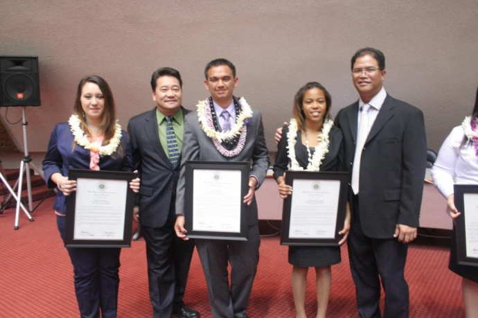 Aaren Soriano, pictured middle center of photo. Photo courtesy, state of Hawai'i, House of Representatives.