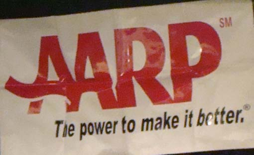 AARP banner, file photo by Wendy Osher.