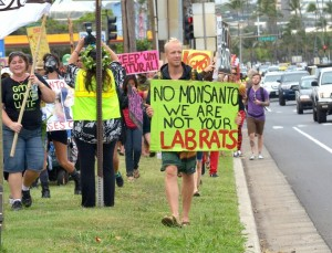 Kahului, Maui - Rally against GMOs. Photo by Rodney Yap.
