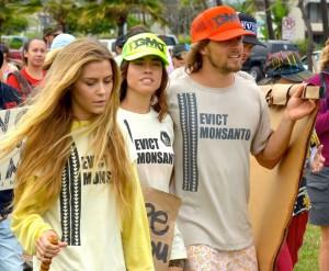 Kahului, Maui - Rally against GMOs.  Photo by Rodney Yap.