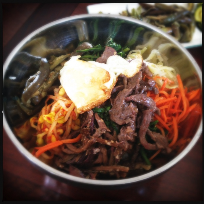 The Bibimbab (per the menu) or Bibimbap or Bibbitybobbityboo if you want to be confusing. Photo by Vanessa Wolf