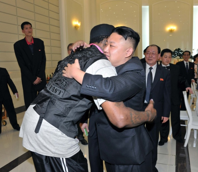 Dennis Rodman's basketball diplomacy doesn't seem to be working. Image file North Korean News Agency.
