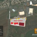 Aerial photo of Puunene Shopping Center location. Photo courtesy of Property Development Centers.