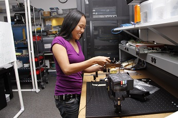 UHMC Engineering Technology student Lindsay Komai at work in the classroom. Courtesy photo.