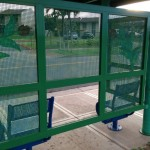 Bus shelter damage, photo courtesy County of Maui.