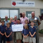 Carden Academy accepts $20,000 grant award from A&B which will go toward the purchase of their campus property. Courtesy photo.