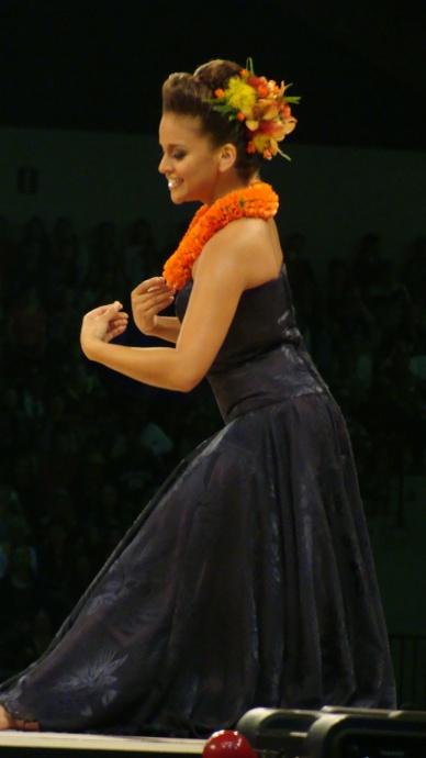 Earning the coveted title of Miss Aloha Hula 2013 was Manalani Mili Hokoana English of Hālau Nā Lei Kaumaka O Uka. Photo by Wendy Osher.