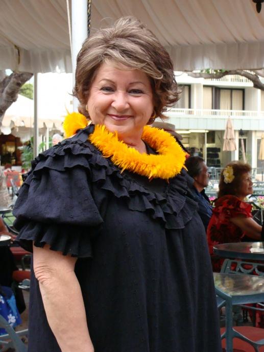 Nā Hōkū Hanohano Female Vocalist Carmen Hulu Lindsey. File photo by Wendy Osher.